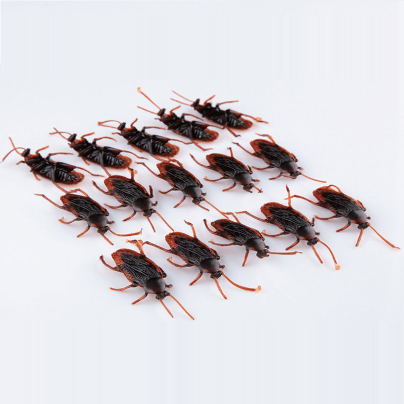10pcs/lot Special Lifelike Simulation Fake Cockroach Prank Funny Trick Joke Toys Cock Roach April Fool's Day Props(China (Mainland))