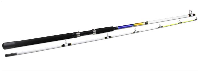 Free Shipping ILre 2.1m Daiwa glass boat fishing rod telescope hard power fishing pole sea fish tackle(China (Mainland))