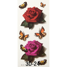 3D Waterproof Body Art Chest Sleeve Stickers Glitter Temporary Flash Tattoos Fake Small Flower Rose Butterfly For Body Painting(China (Mainland))