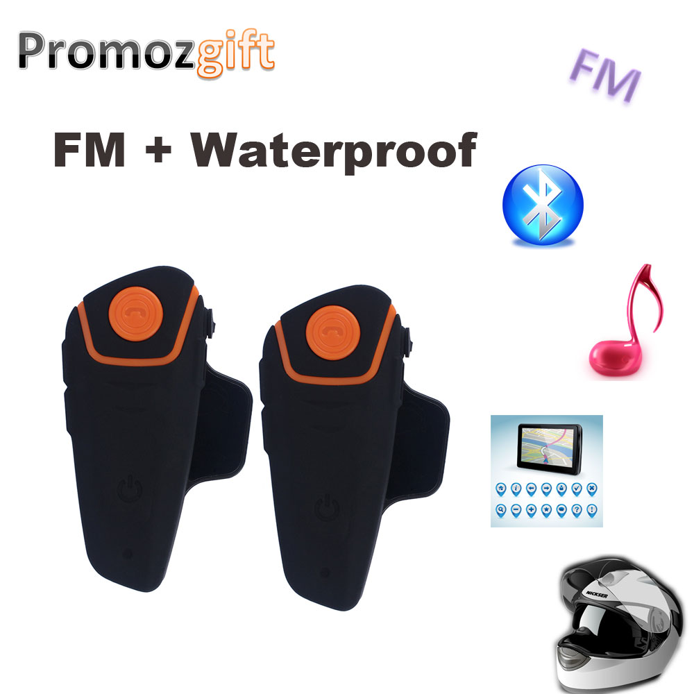 2PCS BT 3.0 BT-S2 1000M 30M IPX7 Waterproof Moto Helmet Bluetooth Headset Motorcycle bluetooth intercom for motorcycle with FM(China (Mainland))