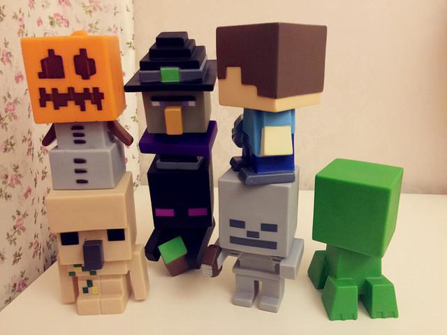 12 см 1 шт./компл. Minecraft стив зомби скелет Enderman игрушки сборка игрушки совместимые игрушки фигурки для подарка