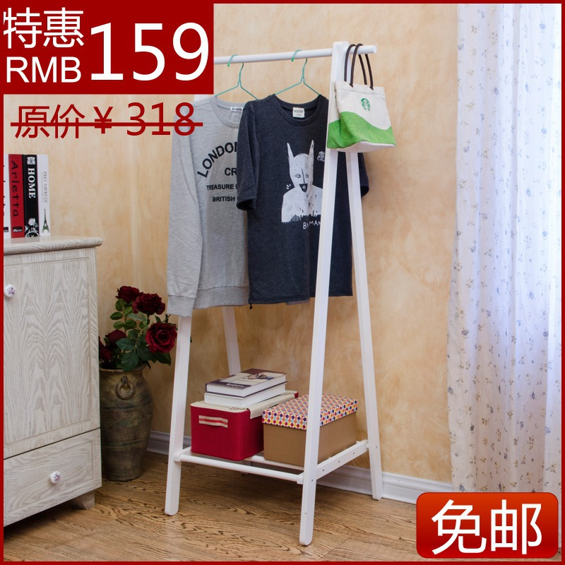 Creative interior wood floor wood coat rack hanger IKEA Korean fashion clothes rack partition shipping(China (Mainland))
