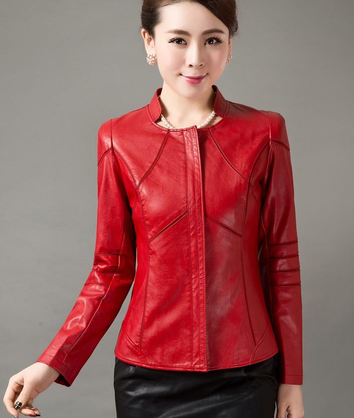 2013 new autumn women short pu leather jackets female