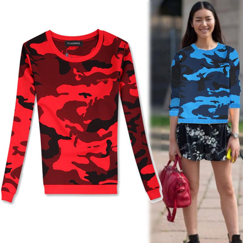 Новое поступление женщины маскируют печать рубашки марка женский осенью и зимой толстые боты рубашки костюм для женщин