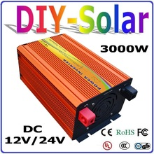 New 3000W off grid Pure Sine Wave Inverter 12V 24V DC to AC110V or 220V with 6000W Surge Power, Solar Wind Power Inverter 3000W (China (Mainland))