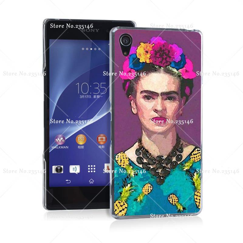 trendy frida kahlo Hard Plastic Clear Back Transparent Style Case Cover for Z2 Z3 Z4 Z5 Z5 Compact(China (Mainland))