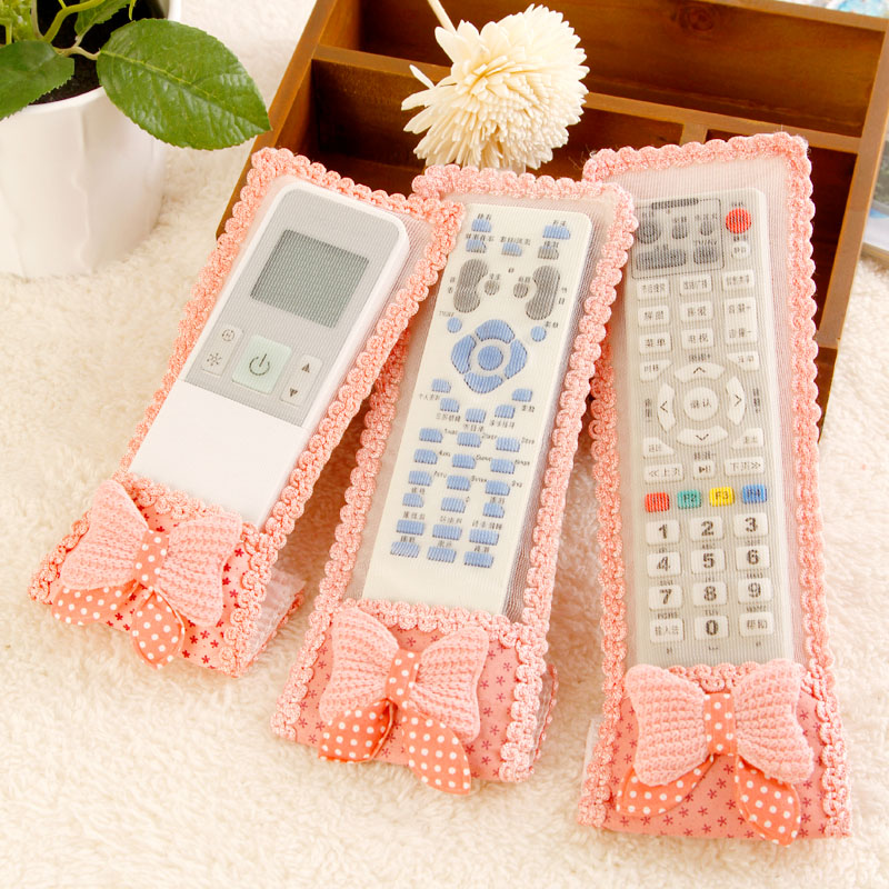 Mantianxing butterfly cloth remote control sets tv air conditioning remote control dust cover k0755(China (Mainland))