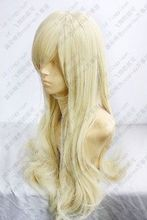 Heat Resistant Cosplay party TJ ******Light Blonde Long curly cosplay wig 80cm Z776 - jewe store