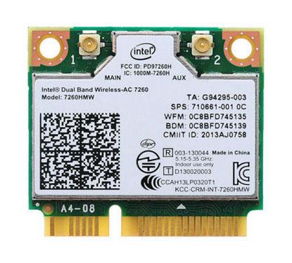 intel Wireless-N 7260BN 7260HMW BN Half Mini PCIe PCI-express WLAN WIFI Card Module 802.11 b/g/n + BlueTooth 710661-001(China (Mainland))