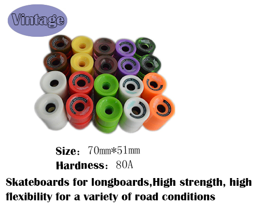 Blank 70mm*53mm Longboard Cruiser Multi Color Wheels + ABEC 7 Bearing + Spacers free ship(China (Mainland))