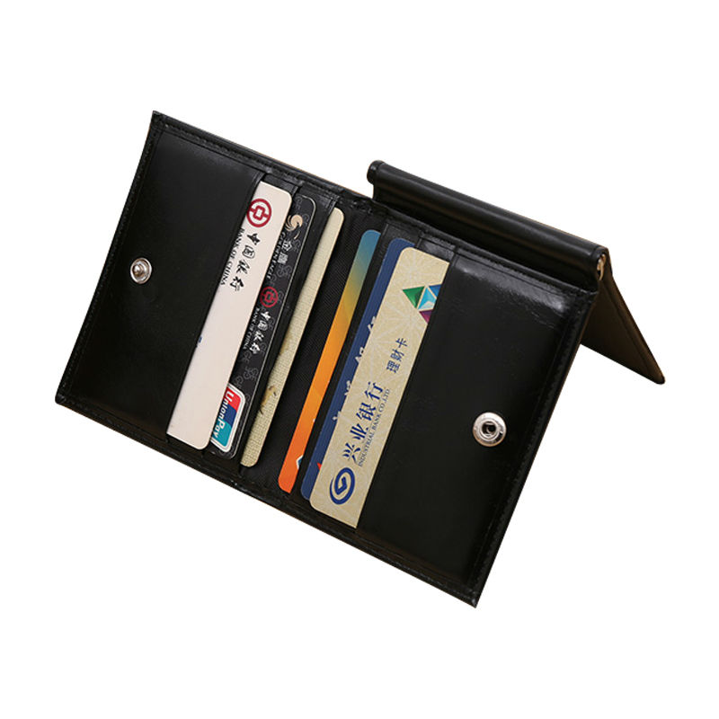 Men Magic 3 Fold Money Clip Slim Wallet Genuine Leather Large Capacity Convenient Dollar Clip with Card Hold Wallets Clips Ba073(China (Mainland))