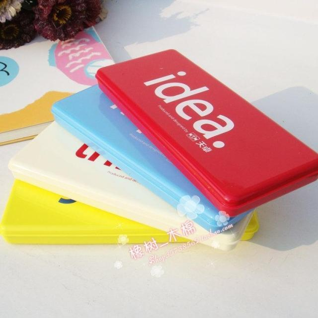95070 simple fashion single tier stationery box plastic child pencil case