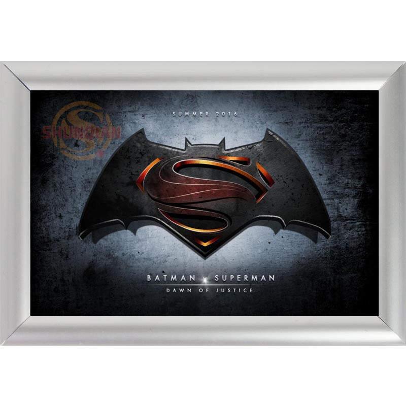 silver color aluminum alloy picture frame home decor custom canvas frame superman vs batman canvas poster