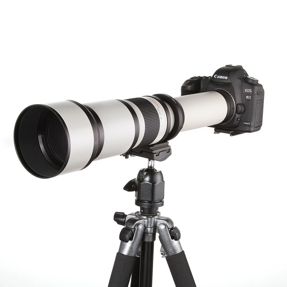 650-1300mm F8.0-16 Super Telephoto Manual Zoom Lens + T2 Adapter Canon 1200D 760D 750D 700D 650D 600D 70D 60D 5DII 7D DSLR