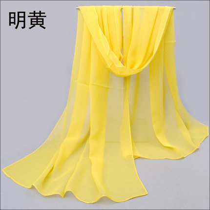 The new 2014 High Quality Chiffon Georgette Scarves Chiffon Plain Long Silk Scarves Shawl Female Long Design SIZE 85 * 190CM(China (Mainland))