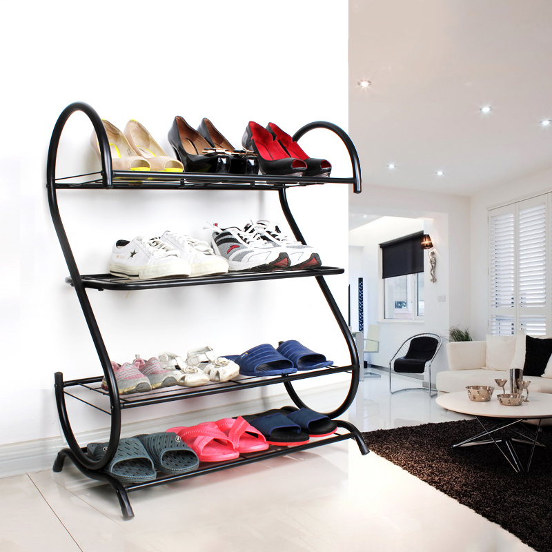 Wrought iron pear minimalist shoe dust Specials creative shoes simple combination cabinet Shelves(China (Mainland))