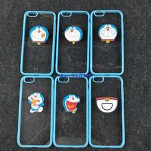 case for Apple 5S iPhone6s mobile phone shell protection cartoon Doraemon acrylic 4.7/5.5 inches through the
