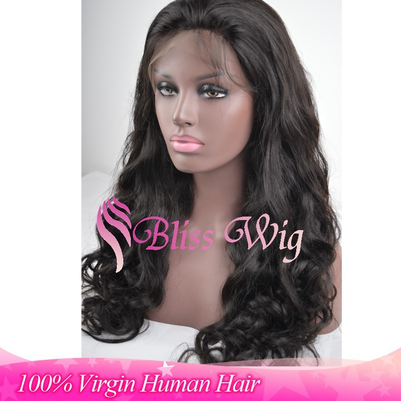 Human Hair Body Wave Full Lace Wig For Black Women-in Human Wigs from ...