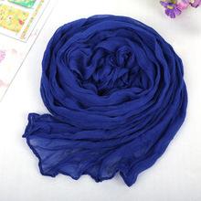 Echarpe 180*50cm Cachecol Feminino 2015 Brand Fashion Casual Foulard All-match Solid Soft Cotton Long Scarf Women Scarves 1901(China (Mainland))
