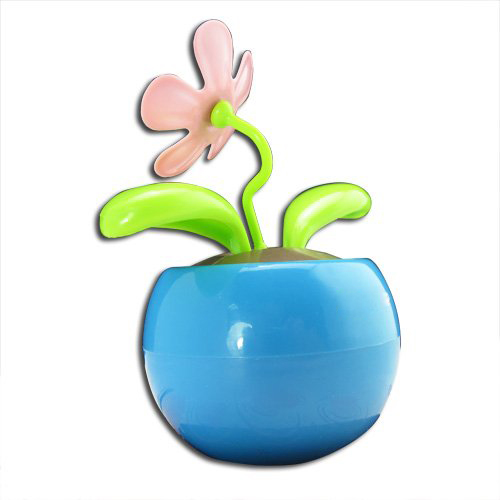 IMC Wholesale 2015 Highly Commend HK Blue Magic Cute Flip Flap Swing Dancing Solar Powered Flower Toys SF-B1(China (Mainland))