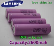 4pcs/lot  2016 newest 100% Original samsung 18650 ICR18650-26HM 2600mAh Li-ion 3.7v Battery  18650 rechargeable Battery(China (Mainland))
