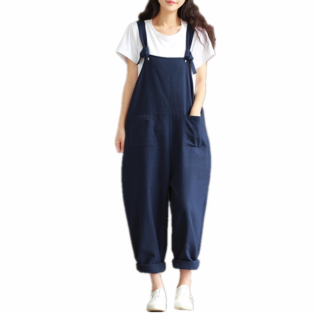 2016 Summer women's Jumpsuits Vintage Rompers Plus Size ...