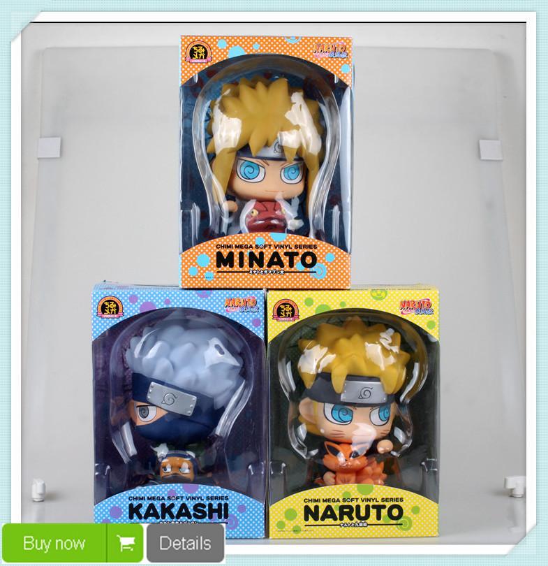 Naruto Uzumaki Naruto Namikaze Minato Hatake Kakashi Piggy Bank PVC Figures Naruto Items Collectible Model Toys Free Shipping<br><br>Aliexpress