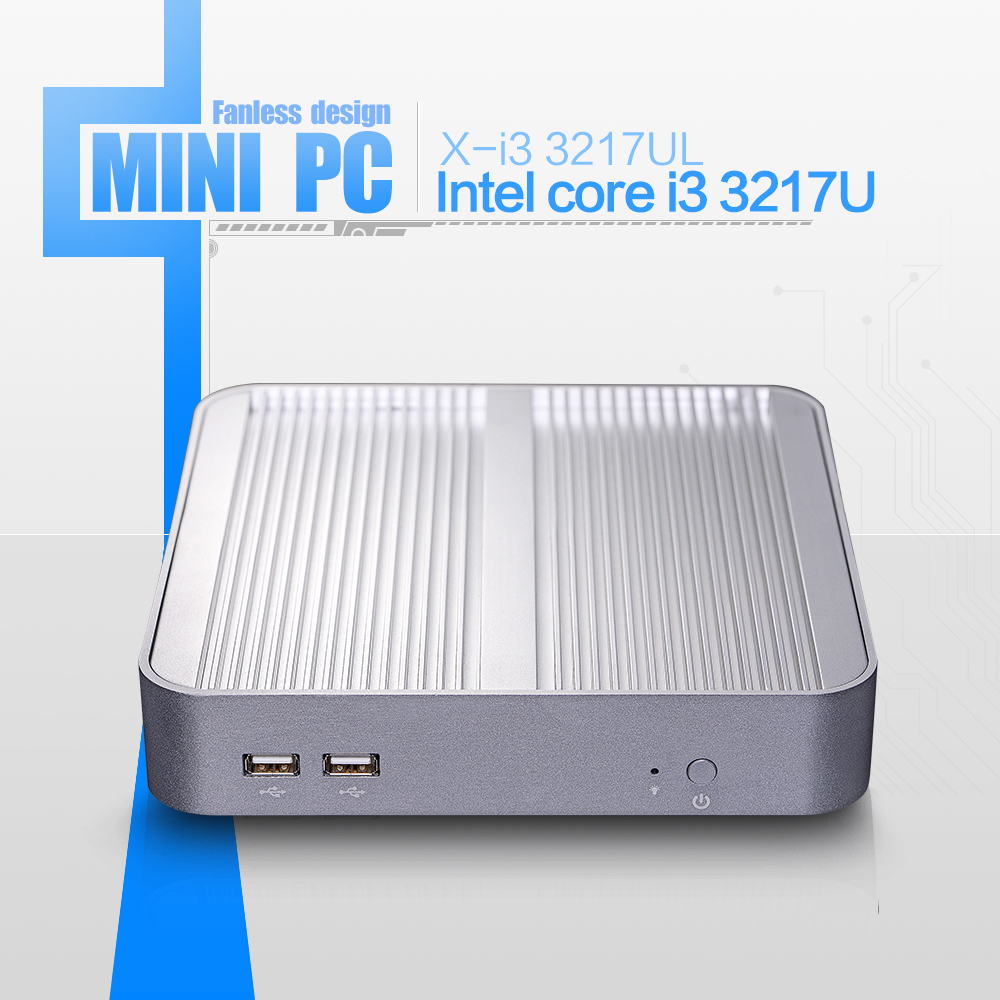 Hot mini desktop computer fanless thin client linux i5 3317u barebone pc support performance 3D graphics(China (Mainland))