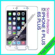 2pcs high clear glossy phone screen protector film For iphone 6 plus guard protective film + Cleaning cloth