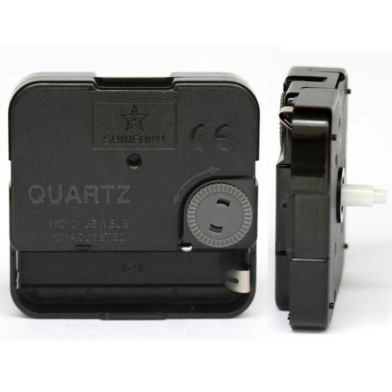 Shinfuku Long Snap In Type TS-632E wall clock mechanism with hands Silent Plastic DIY Clock Accessory kits Sweep Quartz Movement(China (Mainland))
