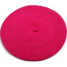 Señora primavera invierno boina sombrero pintor estilo sombrero de las mujeres de lana Vintage boinas de Color sólido tapas mujer sombrero caliente caminando tapa(China)