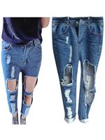 Женские джинсы OEM 2015 Stylish Ripped jeans