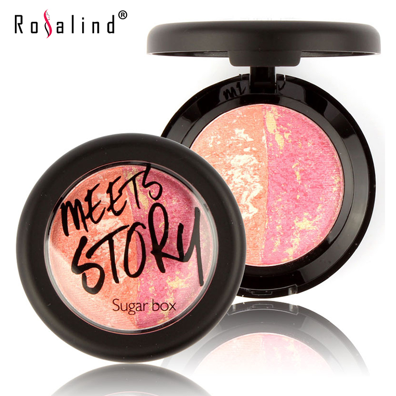 Rosalind Natural Face Pressed Blush Baked Makeup Blush Palette Cream Blush Blusher Brand Sugar Box(China (Mainland))