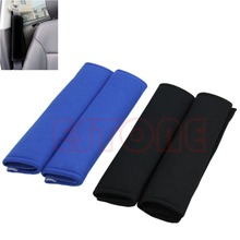Free Shipping 1 Pair Comfortable Car Safety Seat Belt Shoulder Pads Cover Cushion Harness Pad