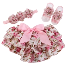 baby bloomers and headband set Girls Pant ,floral Baby girl Bloomers,Baby Shorts infantil,culottes bouffantes de bebe,,#3T0011(China (Mainland))