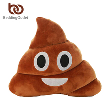 BeddingOutlet Smile Cushion Poop Emoji Pillow Special Gifts Smiley Face Pillow 3 Sizes cojines decorativos On Sale(China (Mainland))