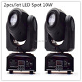 2pcs lot LED 10W spots Light DMX Stage Spot Moving 8 11 Channels 7 colors Mini