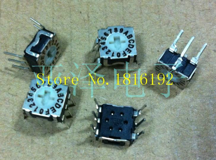French ITT rotary DIP switches 0-F rotary switch 16 RTE1610N43 positive code 3: 3(China (Mainland))