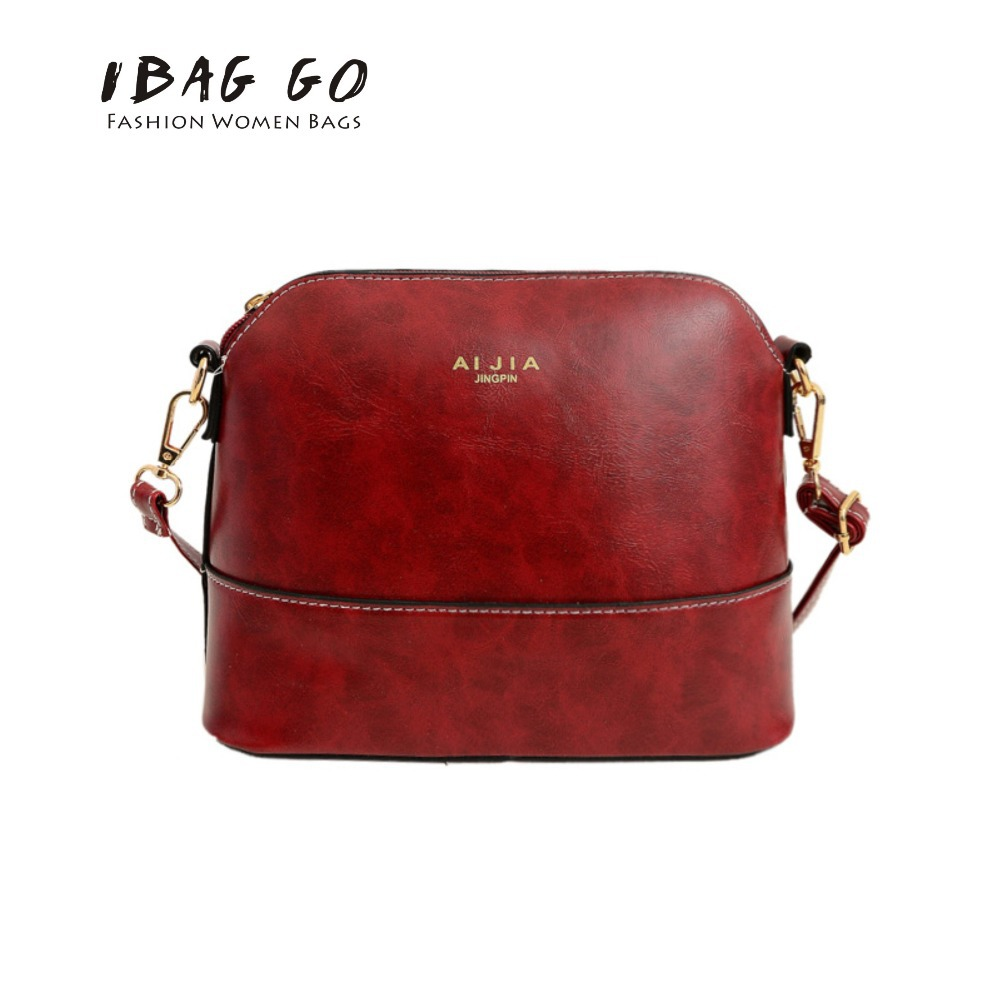 Shell Shaped PU Leather Women Crossbody Bag For Ladies Messenger Bag Best Gift For Girlfriend(China (Mainland))