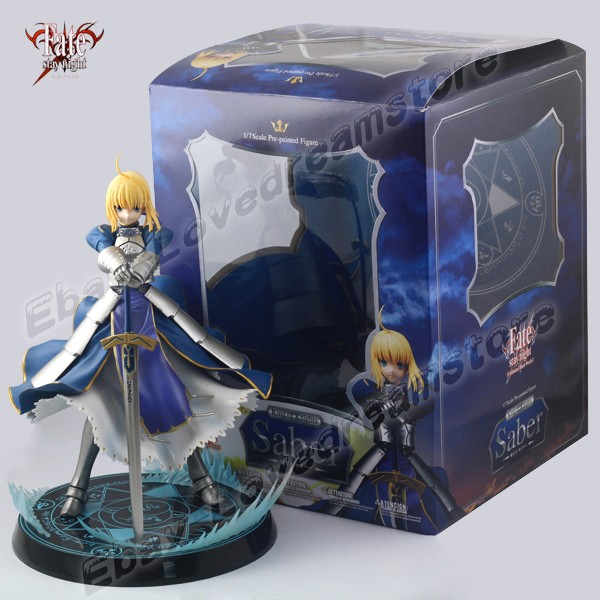 FREE SHIPPING Japanese Animation Fate Stay Night King Of Knights Saber 23cm 1/7 Scale Pre-Painted Figure New In Box &amp; No Box<br><br>Aliexpress