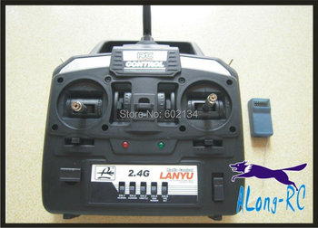 free shipping  sell: RC airplane /model hobby/ spare part   lanyu radio  2.4G  6ch transmitter and  7CH recivers
