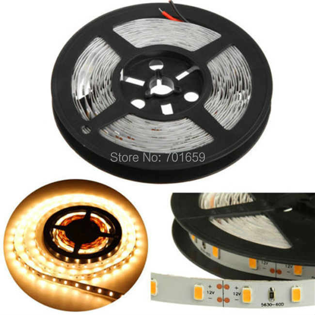 5M LED Strip 5630 SMD Non Waterproof 300 led More Bright than 5050 3528 DC 12V Cold/Warm White/Blue/Red/Green LED Strip Light(China (Mainland))