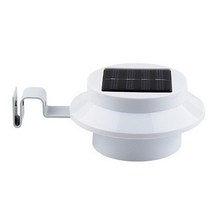 Solar Powered LED Fence Lamp Water Resistant Wall Stairway Mount Garden 3 LED Solar Lamps(China (Mainland))