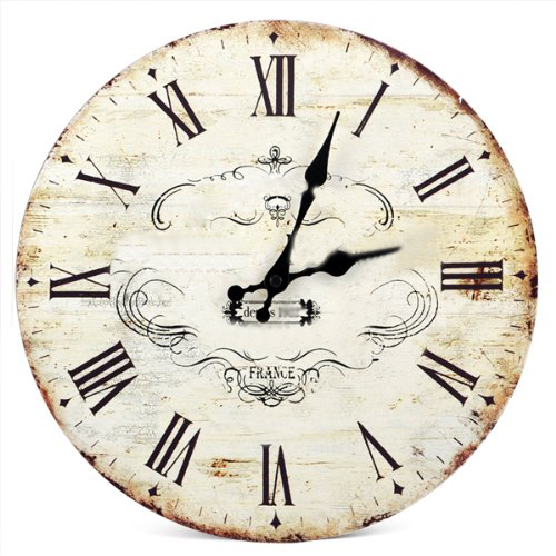 """NFLC SWT 13\"""" Chic Vintage Retro Crown Pattern Wooden Wall Clock Art Home Dcor(China (Mainland))"""