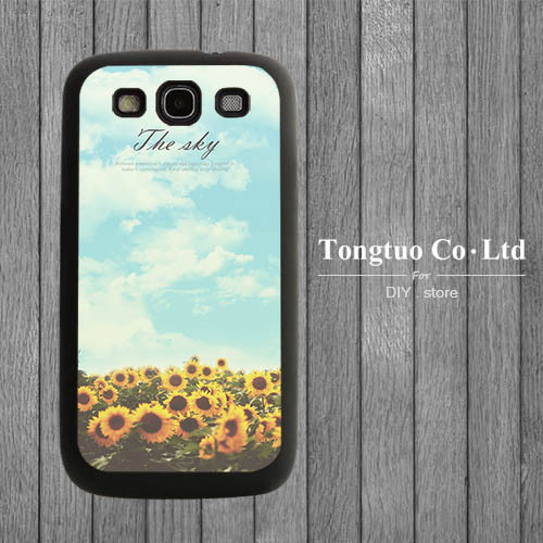 Novelty design sunflower high quality tpu phone cases for samsung galaxy s3 and s4 s5(China (Mainland))