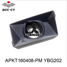 Buy APKT160408-PM YBG202, Zcc Cutting Blade milling Insert Zhuzhou Diamond Original Products Price Ratio Extremely High for $31.24 in AliExpress store