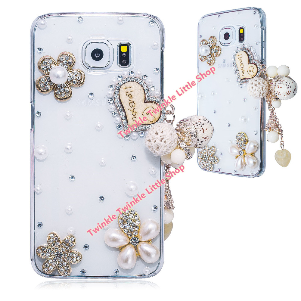 New Romantic I Love You Crystal Plastic Case For Samsung Galaxy S6 Back Cover Phone Cases Accessories Protector Galaxy S6 Case(China (Mainland))