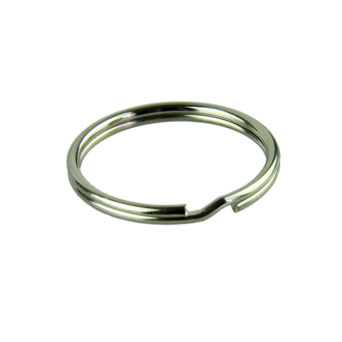 Essential 50pcs KeyRing Kay Chain 25mm Round Split Key Rings Keychain With Nickel Plated llaveros 623(China (Mainland))