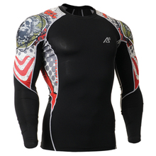 2016 Life On Track Mens Sports Athletic Tops Compression Long Sleeve Shirt Base Layer T-Shirts Bodybuilding Clothes Tee Shirts