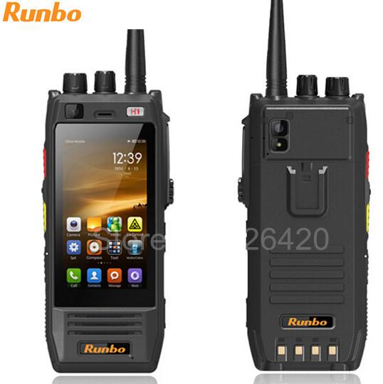 Unlocked Original Runbo H1 Rugged IP67 Three SIM card waterproof 4G LTE 6000 mAh NFC GLONASS GPS PTT walkie talkie PTT phone(China (Mainland))